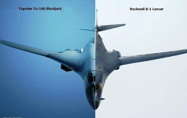 طائرتا بي-1 بي لانسر وتو-160