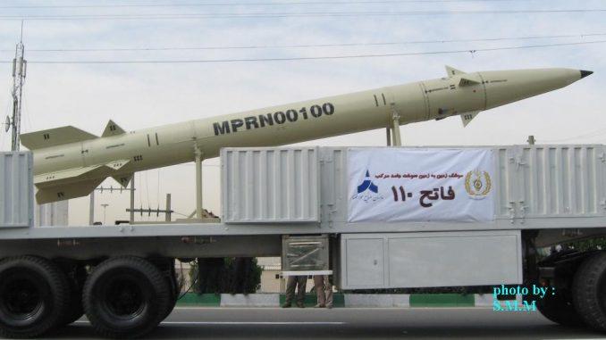 صاروخ فاتح 110 الإيراني (صورة أرشيفية)