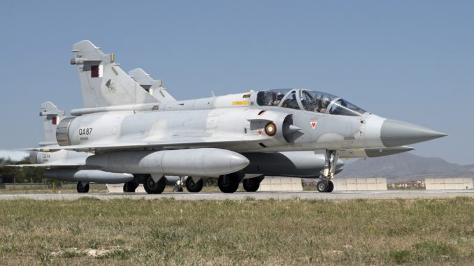 مقاتلة ميراج تابعة لسلاح الجو القطري