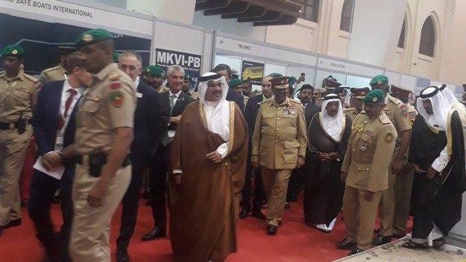 ولي عهد البحرين يزور BIDEC 2017