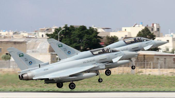 مقاتلتا يوروفايتر تايفون تابعتان لسلاح الجو السعودي (صورة أرشيفية)
