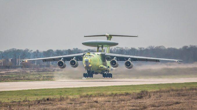 """طائرة الإنذار المبكر """"أيه-100"""" خلال تجارب الطيران في 18 تشرين الثاني/نوفمبر الجاري"""