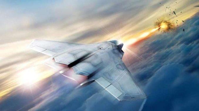 نموذج طائرة مقاتلة مزودة بالأسلحة الليزرية