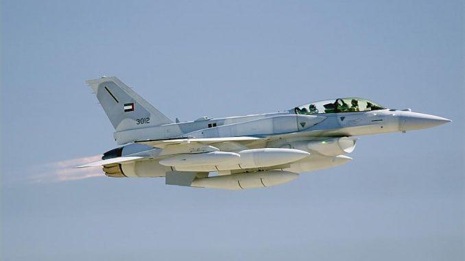 مقاتلة أف-16 بلوك 60 تابعة لسلاح الجو الإماراتي