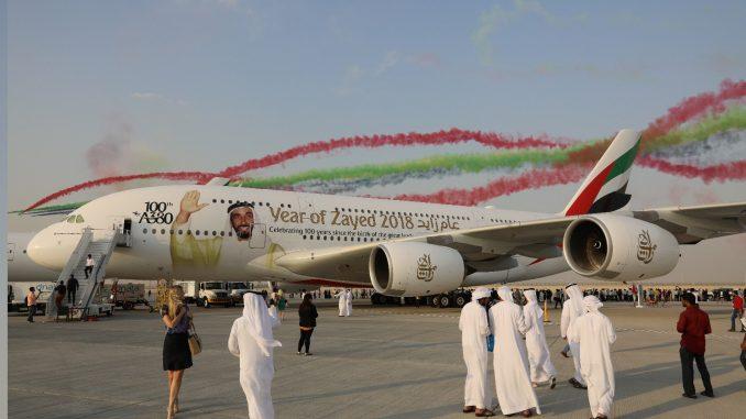 لقطة من معرض دبي للطيران 2017