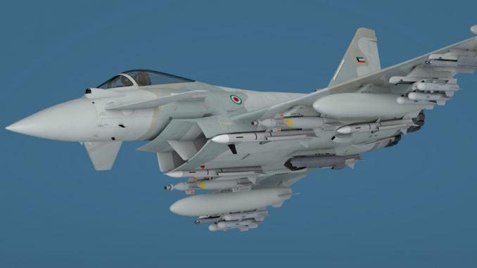 نموذج عن مقاتلة يوروفايتر تايفون الكويتية