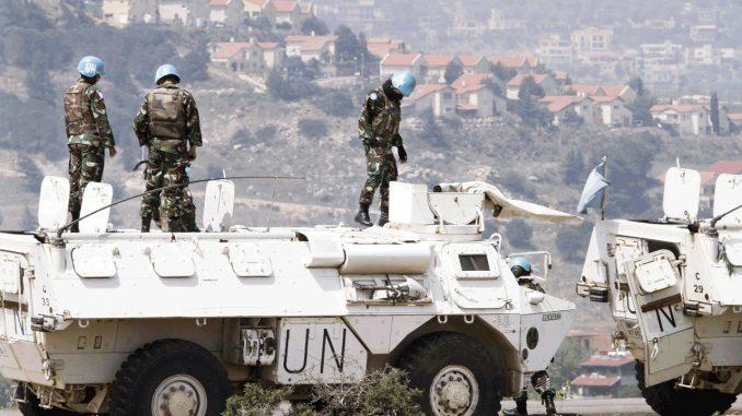 قوات اليونيفيل على الحدود اللبنانية