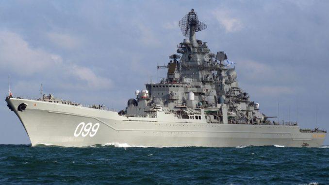 """الطراد الروسي الثقيل """"بطرس الأكبر"""" (Sputnik. Dover Marina)"""