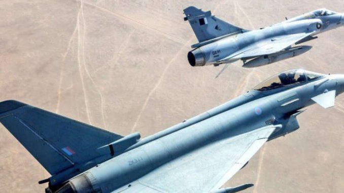 مقاتلات قطرية في التدريبات العسكرية الجوية