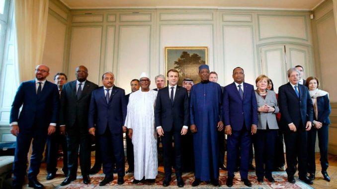 الرئيس الفرنسي يترأس اجتماع قمة قوة التصدي للجهاديين في دول الساحل الأفريقي في 13 كانون الأول/ديسمبر (AFP)