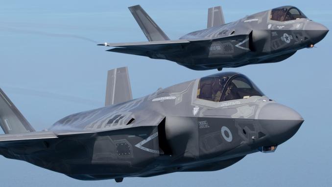 مقاتلتا أف-35 تابعتان لسلاح الجو الأميركي