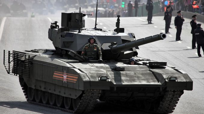 """دبابة """"أرماتا"""" الروسية خلال عرض عسكري"""