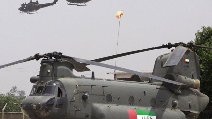 مروحية شينوك التابعة للقوات المسلحة الإماراتية