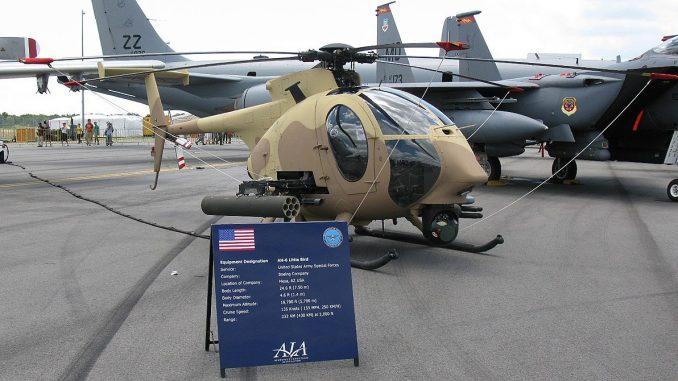 مروحية AH-6i Little Bird في عرض ثابت خلال معرض سنغافورة للطيران 2010 (صورة أرشيفية - الأمن والدفاع العربي)