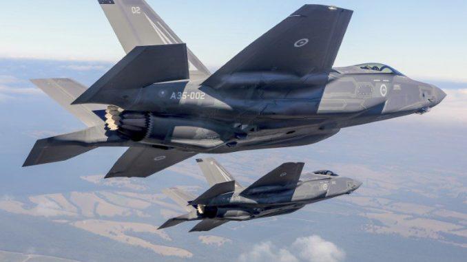 مقاتلتا إف-35 الأميركيتين