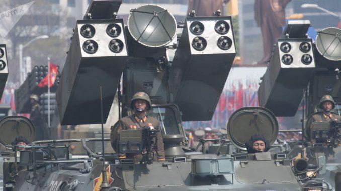 عرض عسكري في بيونغ يانغ