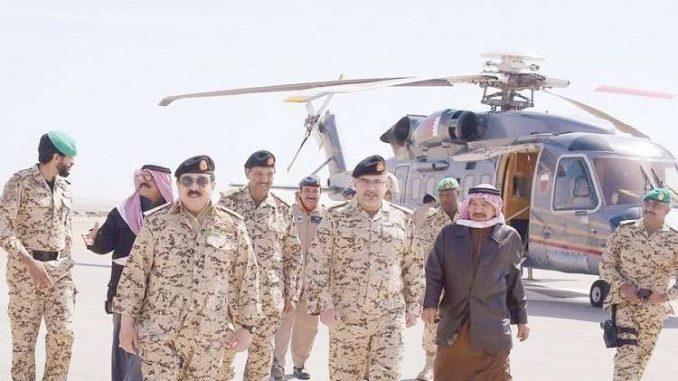 عاهل البحرين يشهد تمرينا بالذخيرة الحية للقوات البحرينية والسعودية والإماراتية في 5 شباط/ فبراير 2018 (واس)