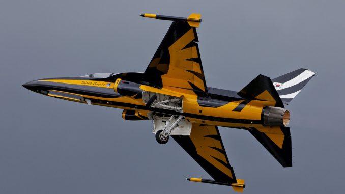 """مقاتلة """"تي-50"""" تابعة لمجموعة النسور السوداء الكورية"""
