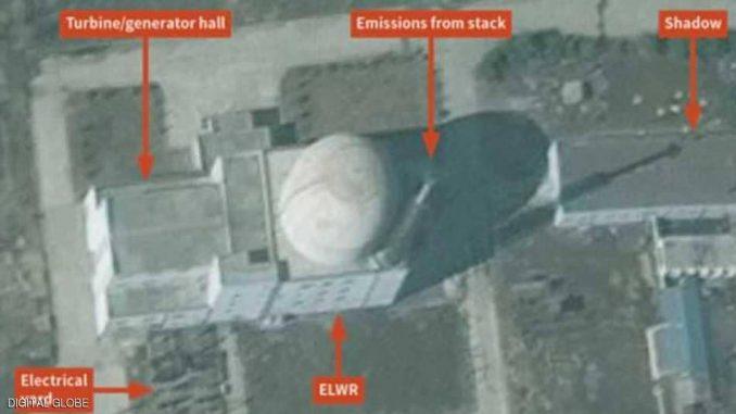 صورة القمر الإصطناعي التي تظهر نشاطا متواصلا في مفاعل نووي يقع شمال بيونغ يانغ ( سكاي نيوز عربية)