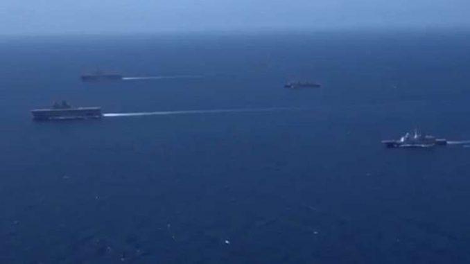 تدريب مشترك بين البحرية المصرية والفرنسية لمكافحة الألغام