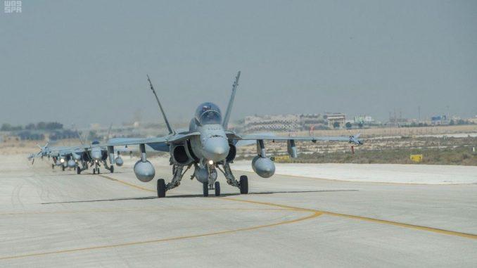 مناورات درع الخليج المشترك 1 في السعودية في 2 نيسان/ أبريل (واس)