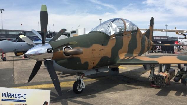 طائرة التدريب التركية Hurkus خلال معرض باريس للطيران (صورة حصرية)