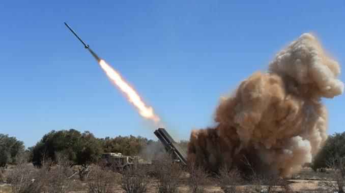 """راجمة الصواريخ الروسية """"أوراغان"""" خلال عملية تجريبية (وكالة سبوتنيك للأنباء)"""