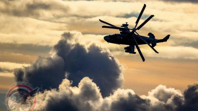 """لقطة لمروحية """"كا-52 التمساح"""" (بوابة الدفاع المصرية)"""