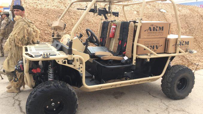 """مركبة MRZR D2 للمهام التكتيكية الخاصة بالقوات الخاصة الأردنية خلال اليوم الأول من معرض """"سوفكس 2018"""" في 8 أيار/مايو 2018 (الأمن والدفاع العربي)"""