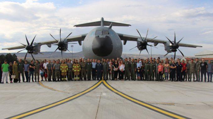 طائرة النقل العسكري A400M التي استلمتها تركيا في 21 حزيران/ يونيو 2018