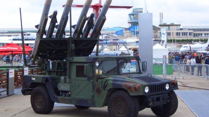 """نظام الدفاع الجوي الأميركي """"ناسامز"""" في أحد المعارض العسكرية (صورة أرشيفية)"""