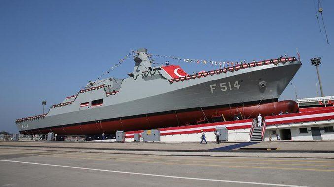 سفينة حربية تركية الصنع