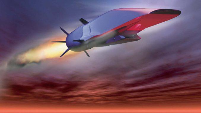 رسم لصاروخ كروز أسرع من الصوت