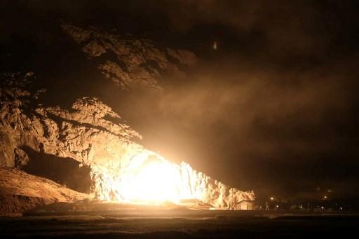 إطلاق صاروخ إيراني باتجاه معسكر في سوريا في 1 تشرين الأول/ أكتوبر