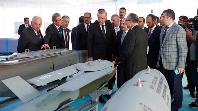 لقطة للرئيس التركي رجب طيب أردوغان خلال زيارته لحفل افتتاح البنية التحتية لتنمية التكنولوجيا الوطنية، بالعاصمة أنقرة في 31 تشرين الأول/أكتوبر 2018 (وكالة الأناضول)