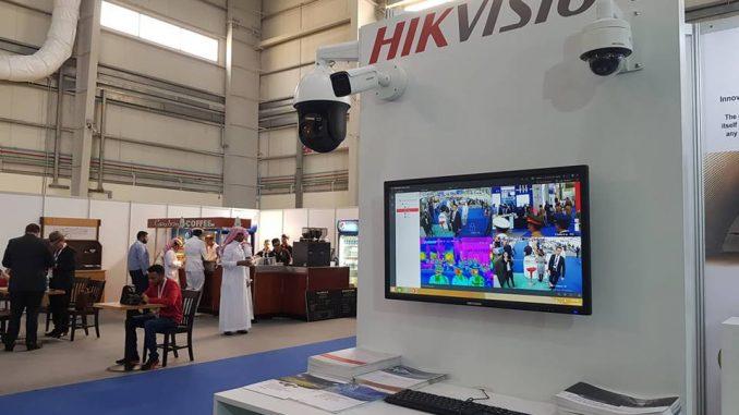 منصة عرض شركة HikVision خلال معرض البحرين الدولي للطيران 2018