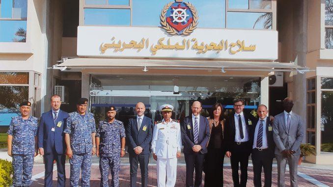 تسليم شركة ليوناردو لسفينة المحرّق الحربية إلى البحرية البحرينية في 15 تشرين الثاني/ نوفمبر 2018