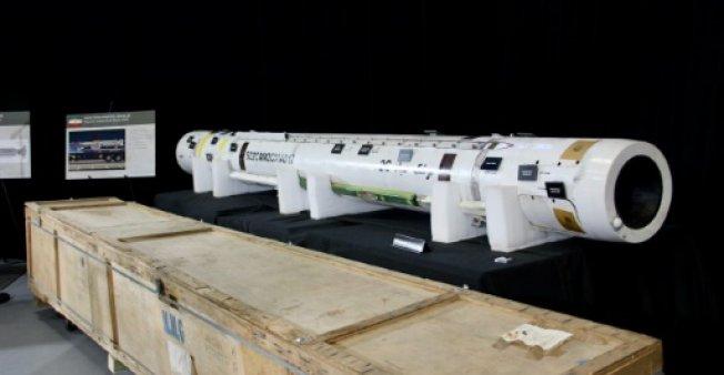 الجيش الأميركي يعرض نظام صاروخ ارض جو (صياد 2) في واشنطن في 29 تشرين الثاني/نوفمبر 2018
