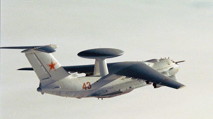 طائرة عسكرية روسية من طراز بيريف إيه- 50 تم التقاطها بواسطة سلاح الجو النرويجي في المياه الدولية قبالة سواحل النرويج 17 آب/أغسطس 2007 (AFP)