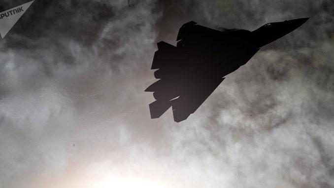 مقاتلة سو-57 (صورة أرشيفية)