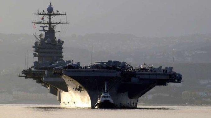 """حاملة الطائرات الأميركية """"هاري ترومان"""" (صورة أرشيفية)"""