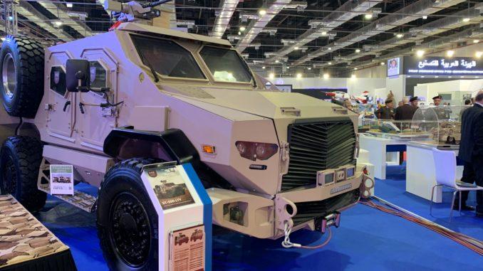 """المركبة المدرعة ST-500 خلال معرض """"إيدكس 2018"""" في القاهرة (الأمن والدفاع العربي - صورة خاصة)"""