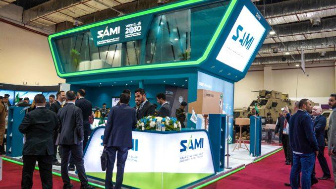 جناح شركة SAMI خلال معرض إيدكس 2018
