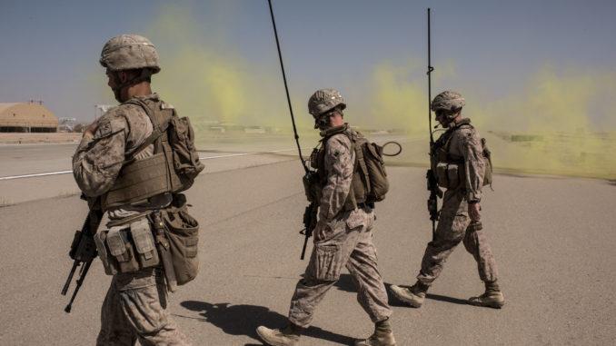 عناصر من البحرية الأميركية في أفغانستان في 2017.