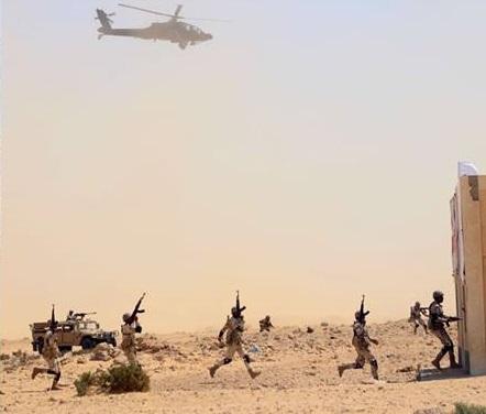 وحدات من الجيش المصري تنفّذ مناورة بالذخيرة الحية ضمن فعاليات مناورة  بدر 2019