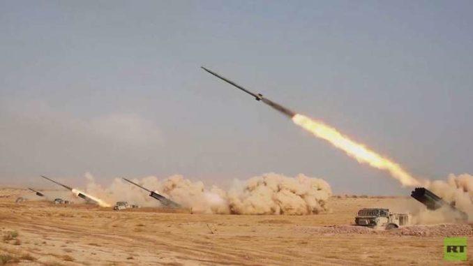 تدريبات المدفعية الروسية