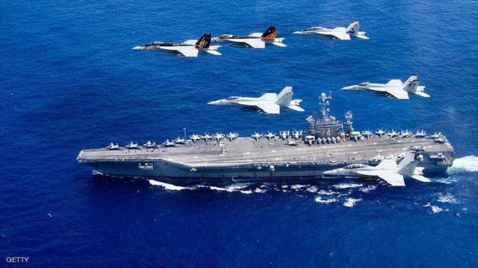 حاملة الطائرات الأميركية عند وصولها إلى المتوسط