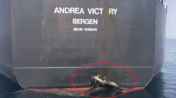الضربة التي تعرضت لها السفينة النرويجية في 12 أيار/ مايو