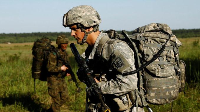 جندي أميركي خلال تدريبات في بولندا