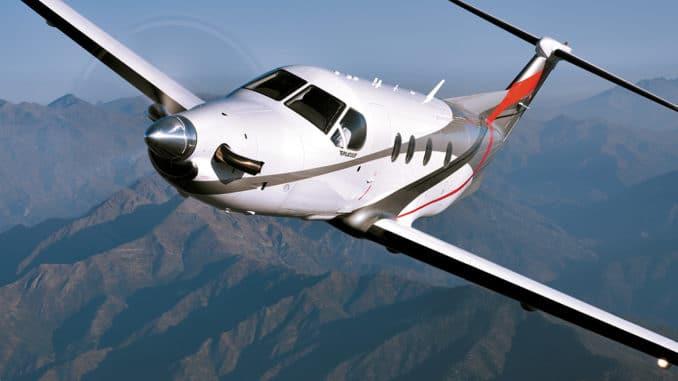 طائرة pilatus من طراز PC-12 للتدريب
